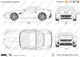 ferrari drawing the blueprints com vector drawing ferrari california
