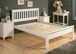 Wooden King Size Bed Frame Shaker White Wooden King Size Bed Frame Lfe