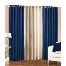 Blue Window Curtains Blue Cotton 60 X 54 Inch Eyelet Window Curtain Sibi Hari Exports