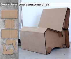 5 piece cardboard lounge chair 6 steps with pictures