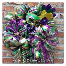 mardi gras bead wreath shop mardi gras mesh on wanelo