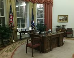 Oval Office Desk by Inside Air Force One At The Ronald Reagan Presidential Foundation