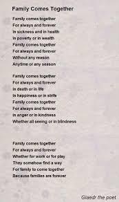 family comes together poem by glaedr the poet poem
