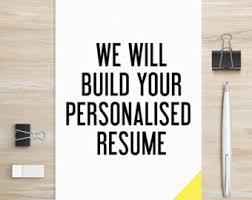 Resume Online Creator by Resume Builder Etsy