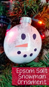 glass snowman ornament while he was napping