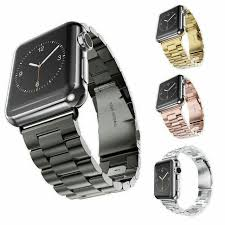 stainless steel bracelet strap images New for apple watch band 42mm black gold full stainless steel jpg