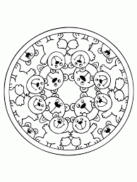 bears mandala coloring pages mandala s kids pinterest