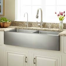 stainless steel farmhouse style kitchen faucets centerset two