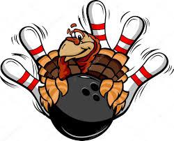cartoon turkeys for thanksgiving bowling thanksgiving holiday turkey cartoon vector illustration