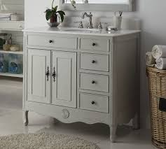 4 Bathroom Vanity 38 Inch Bathroom Vanity Distressed Vintage Gray Color With 4