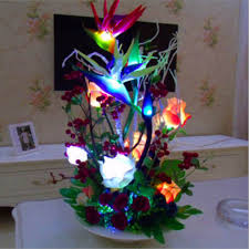 Flower Table Lamp Simulation Paradise Bird Flower Table Lamps Creative Decorative