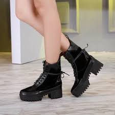 motorcycle booties new arrival 2018 women s motorcycle booties with pearls chunky heels