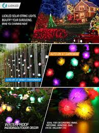 pictures of christmas decorations in homes luckled solar christmas string lights 23ft 50 led chuzzle ball