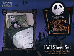 amazon com nightmare before christmas sheet set full size 4