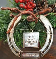 horseshoe ornaments 16 best cowboy christmas images on cowboy christmas