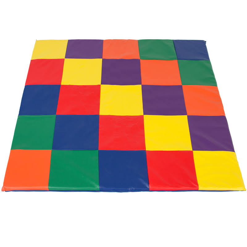 58x58in Foam Cushioned Toddler Play Floor Mat W/ 2-inch Thick Cushion