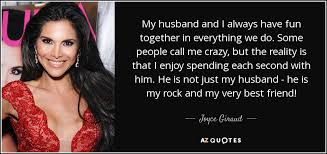 joyce giraud quote my husband and i always together in