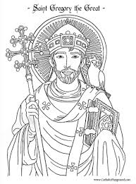 pope saint gregory the great coloring page september 3rd