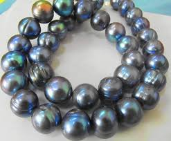 pearl necklace wholesale images New fine pearl jewelry rare tahitian 12 13mmsouth sea black blue jpg