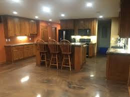 metallic epoxy floor coating for a slab on grade home by sierra