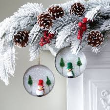 30 simple and festive jar lid ornaments for