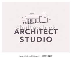 bureau simple vector flat architect bureau logo design เวกเตอร สต อก 666399445