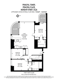 Tower Of London Floor Plan by 3 Bed Flat For Sale In Principal Place Worship Street London