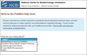 Select Medical Help Desk Write To The Pubmed Help Desk