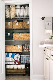 bathroom closet organization ideas 20 beautifully organized linen closets the housie