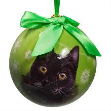 28 black cat ornament black cat christmas ball ornament ebay