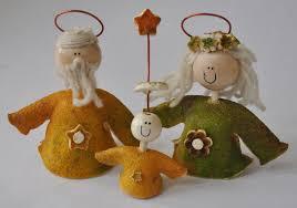 novelty ornaments orange peel nativity set handmade
