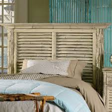 buy coastal chic louvered headboard color antique white size twin