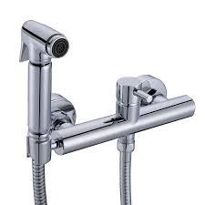 online get cheap bidet mixer spray aliexpress com alibaba group solid brass toilet handheld bidet spray portable bidet shower sprayer set with hot and cold mixer valve 02 081a
