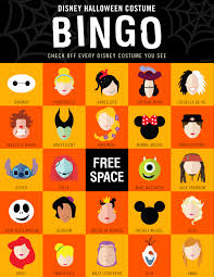 disney halloween costume bingo oh my disney