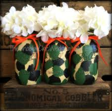 camouflage baby shower camo jars camouflage vases painted camo