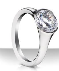 beveled engagement ring split bezel diamond engagement ring williams jewelers