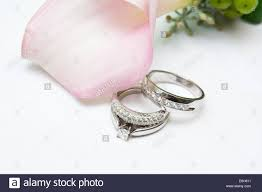 Pink Wedding Rings by White Gold And Diamond Wedding Rings And An Engagement Ring Are