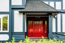 red front door in farrow u0026 ball incarnadine 248 colour