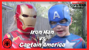 little heroes captain america vs iron man in real life civil war