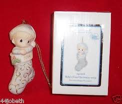 2014 precious moments dated baby boy ornament first christmas