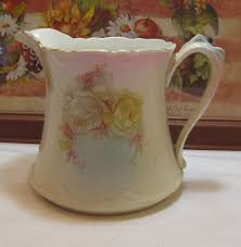 pitcher of roses antique dresden china water milk pitcher w white roses east