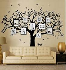 amazon com picture frame tree removable wall decor decal sticker