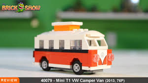 mini camper van lego mini vw t1 camper van polybag review set 40079 youtube