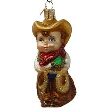 world christmas lil cowpoke cowboy christmas ornament 24121