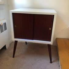 mid century record cabinet record cabinet ebay