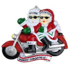 personalized ornament motorcycle bike mr mrs