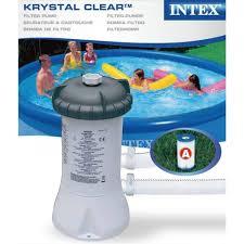 Intex Pool Filters Intex Krystal Clear Swimming Pool Filter Pump U0026 Cartridge