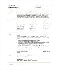 sample of customer service resume hitecauto us