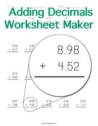 customizable and printable multiplying decimals worksheet maker