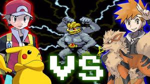 pokemon trainer battle red vs blue youtube